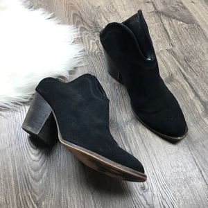 Chinese Laundry Kelso open back booties black